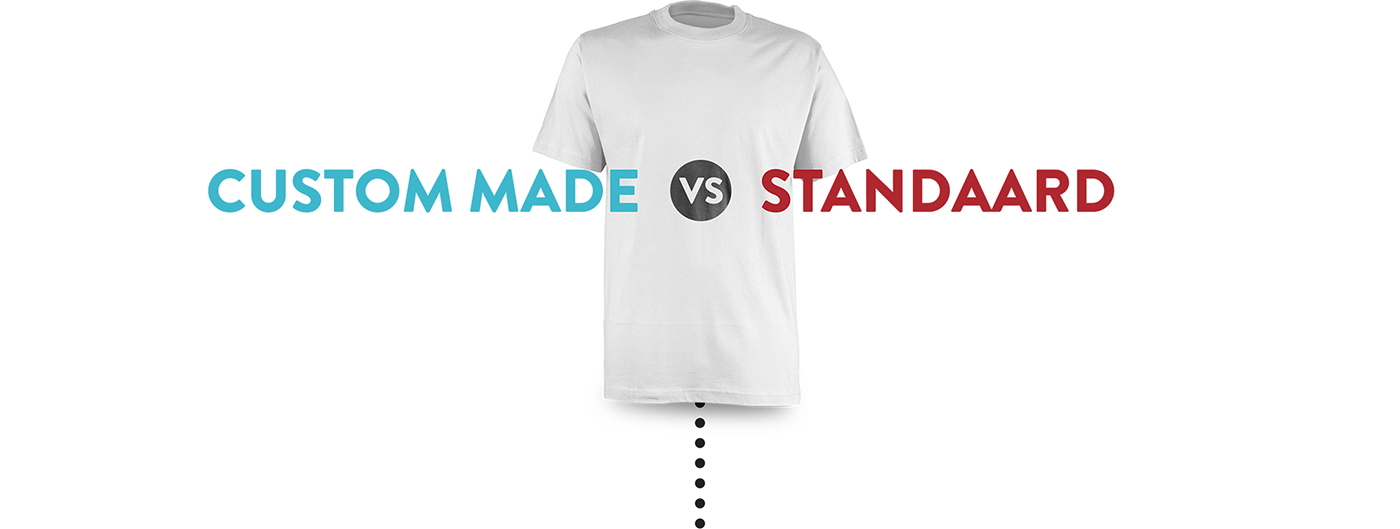 Custom made en standaard t-shirts