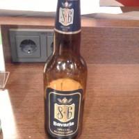 Bavaria 8.6 was ons bier naar keuze in de NS Hispeed businesslounge