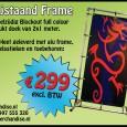 Aanbieding dubbelzijdig spandoek in frame!