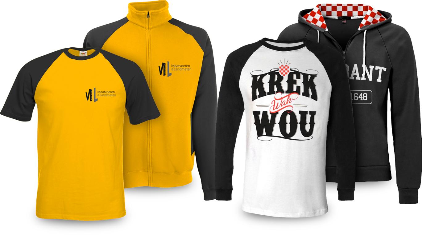 raglan mouwen t-shirts en sweaters