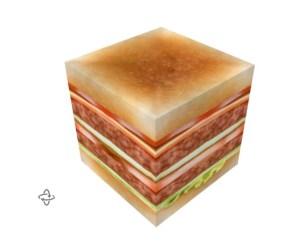 hamburger zitkubus
